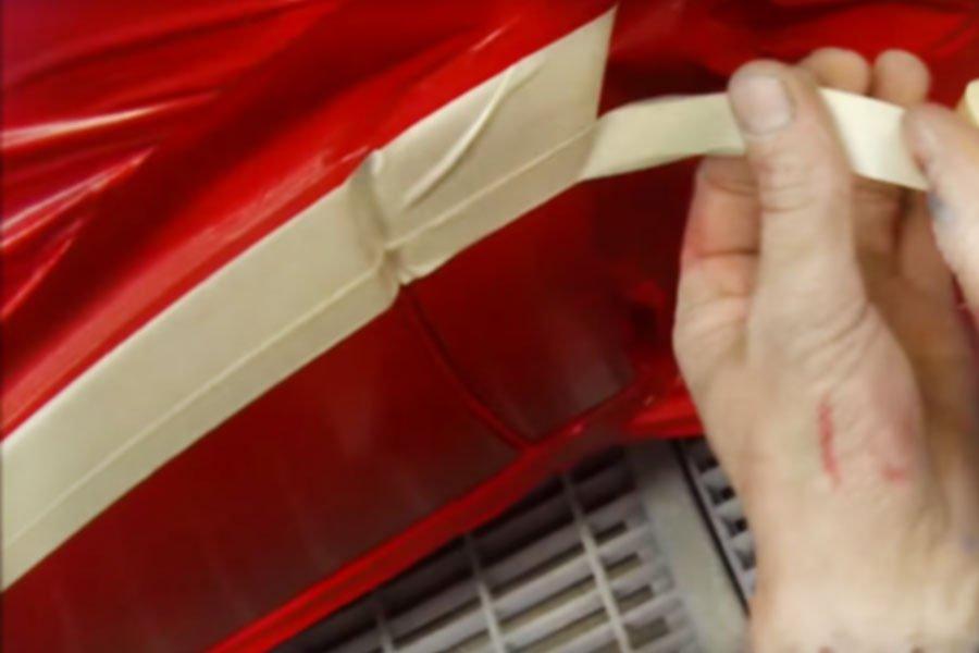 Cintas de papel de arroz para enmascarar automóviles
