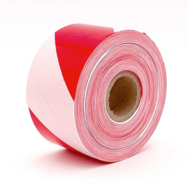 Cinta balizamiento no adhesiva en color rojo blanco
