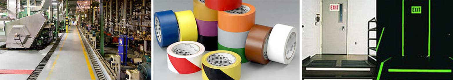 Cinta adhesiva para marcado de suelos industriales