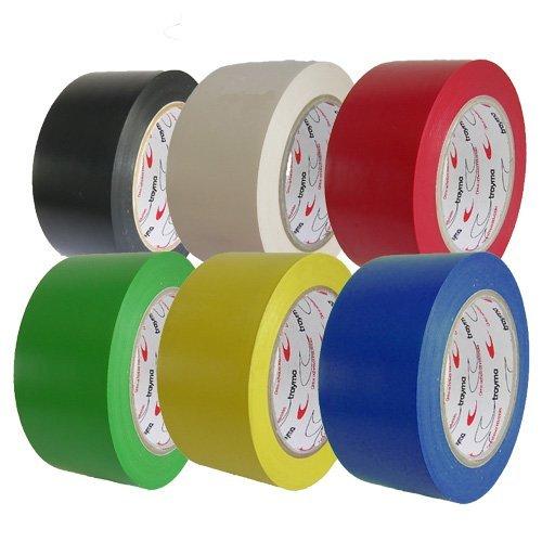 Cinta adhesiva para el marcaje de suelos industriales TYM 1441 VP1 color negro, blanco, rojo, verde, amarillo y azul