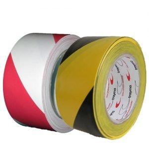 TYM 1442 VP1 Cinta adhesiva para el marcaje de suelos industriales amarillo negro, rojo blanco