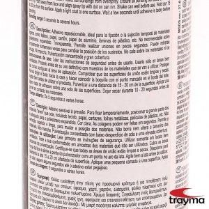 3M 75 Spray adhesivo reposicionable etiqueta trasera