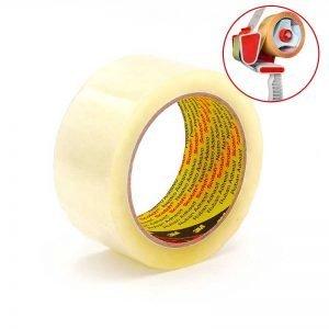 3M 309 cinta adhesiva de polipropileno silencioso para cerrar cajas y embalaje general