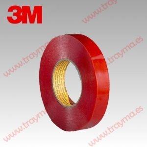 3M 9088 FL Cinta adhesiva de doble cara resistente a la temperatura - 12 mm, Pack 2 unidades