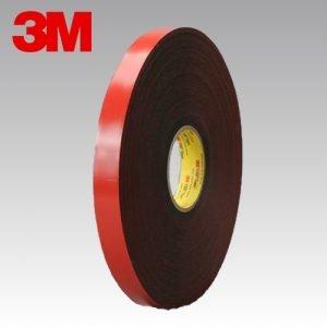 3M 5952 F VHB para sustratos con pintura en polvo - 1,1 mm espesor Gris Antracita