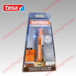 TESA SUPERGEN 62601 Tubo adhesivo Contacto Incoloro tubo 20 ml