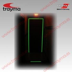 ORA 9300 Cinta adhesiva Fotoluminiscente - Señalización de vías de evacuación y puntos de peligro en interiores