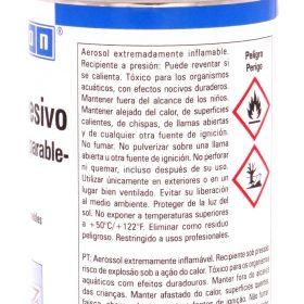 Spray adhesivo nuevamente separable weicon dorso