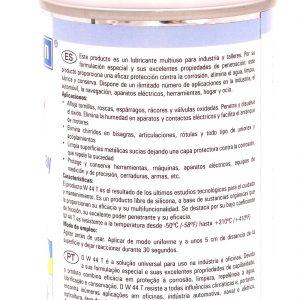 Spray Weicon W44T Etiqueta trasera