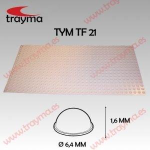 TYM TF21 TOP FIX - Tope Adhesivo de Protección Hemiesferico