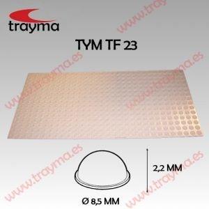 TYM TF23 TOP FIX - Tope Adhesivo de Protección Hemiesférico