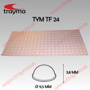 TYM TF24 TOP FIX - Tope Adhesivo de Protección Hemiesférico