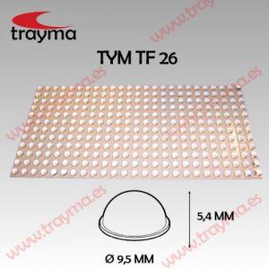 TYM TF26 TOP FIX - Tope Adhesivo de Protección Hemiesférico