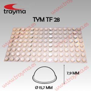 TYM TF28 TOP FIX - Tope Adhesivo de Protección Hemiesférico