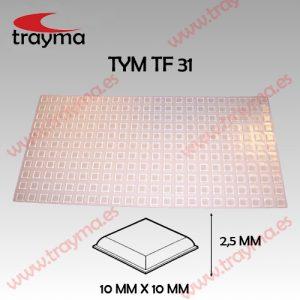 TYM TF31 TOP FIX - Tope Adhesivo de Protección Cuadrado