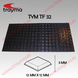 TYM TF32 TOP FIX - Tope Adhesivo de Protección Cuadrado - Lamina (11.54€/lamina)