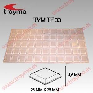 TYM TF33 TOP FIX - Tope Adhesivo de Protección Cuadrado