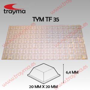 TYM TF35 TOP FIX - Tope Adhesivo de Protección Cuadrado - Lamina (11.65€/lamina)