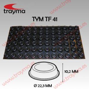 TYM TF41 TOP FIX - Tope Adhesivo de Protección Cilíndrico - Lamina suelta (17,32€/lamina)