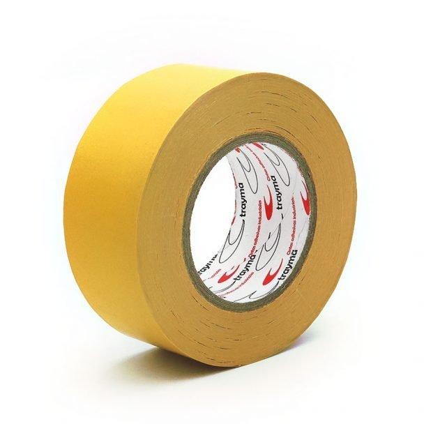 TYM 2593 Cinta doble cara tejido rayón blanco para el pegado de moquetas