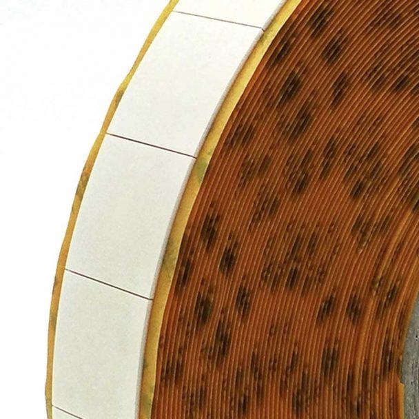 TYM 82659 Cinta adhesiva doble cara de polietileno troquelada en tacos removible / temporal