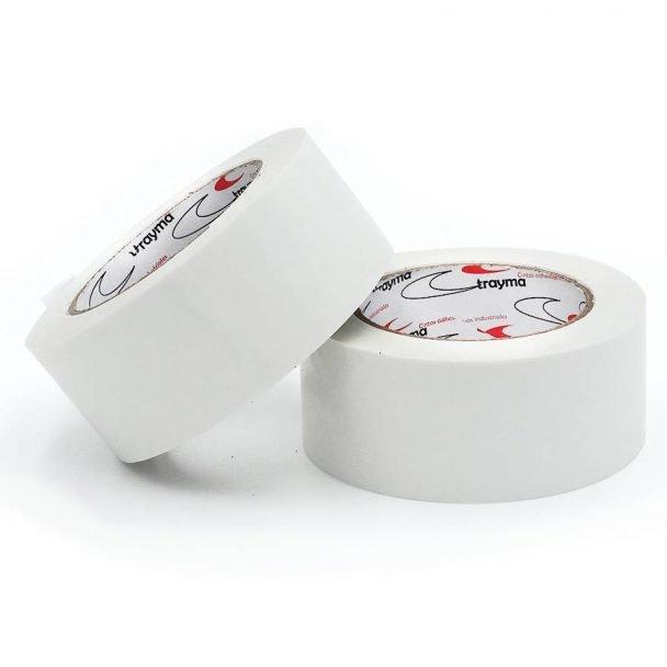 Cinta adhesiva embalaje premium blanco puro