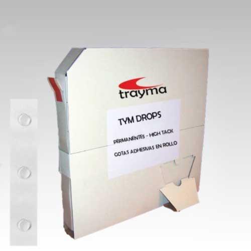 TYM DROPS PERMANENTES - Gotas adhesivas para muestras, encartes, tarjetas de visita, artes gráficas, etc.