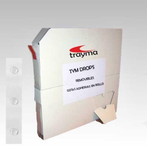 TYM DROPS REMOVIBLES - Gotas adhesivas para muestras, encartes, tarjetas de visita, artes gráficas, etc.