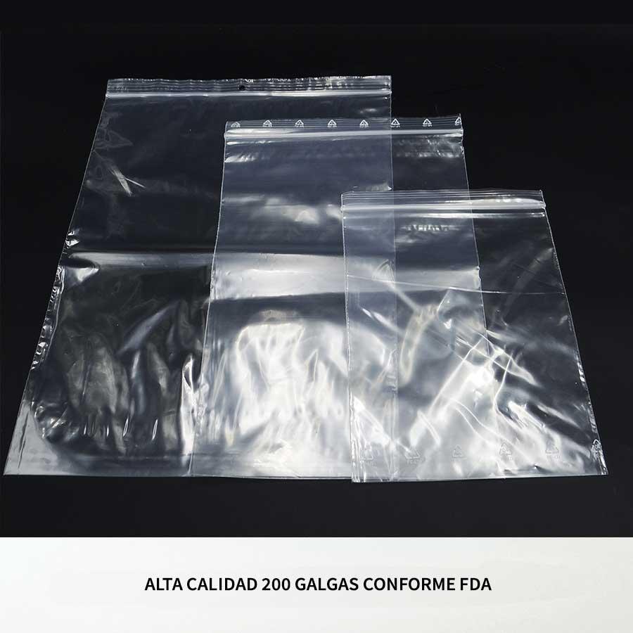 Bolsas De Plástico Con Cierre Zip Hermético Aptas Para Uso Alimentario Trayma