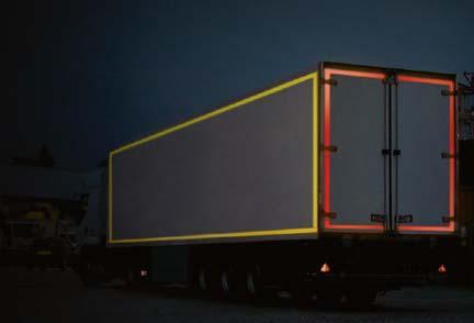 Cinta adhesiva reflectante para camiones y vehículos