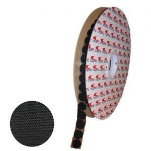 Circulos de velcro adhesivo negroTYM Hook