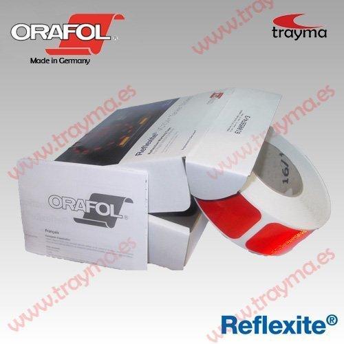 REFLEXITE VC104 + CIS Cinta adhesiva reflectante FRACCIONADA para camión CISTERNA - Rojo, Pack 5 unidades (10% dto.)