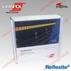 REFLEXITE VC104 + SEG LONAS Cinta adhesiva reflectante FRACCIONADA para TOLDOS de camiones y REMOLQUES - Amarillo, 1 rollo de 50 m