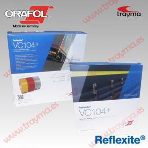 REFLEXITE VC104 + LONAS Cinta adhesiva reflectante para TOLDOS de camiones y REMOLQUES - Rojo, 1 metro