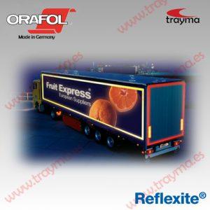 REFLEXITE VC104 + Cinta adhesiva reflectante para camiones con lados RÍGIDOS - Blanco, Pack 5 rollos de 50 m (10% dto.)