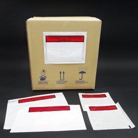 Sobres packing list con adhesivo contiene documentación