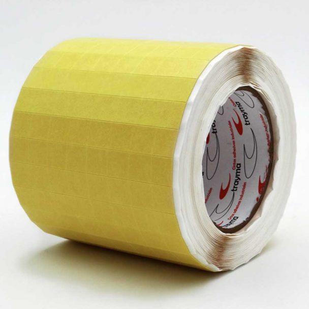 Tacos separadores de cristal para transporte adhesivos