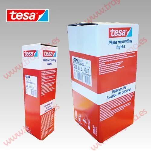 TESA 52330 Cinta adhesiva de montaje de clichés. Impresión flexográfica en cartoneras