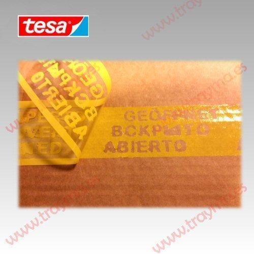 TESA 64007 Cinta adhesiva de SEGURIDAD CONTRA MANIPULACIONES INDEBIDAS