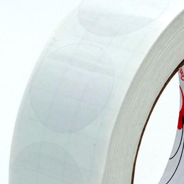 Precinto de garantía circulos transparentes adhesivos