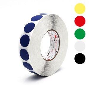 TYM 81565 Círculos adhesivos de colores en tejido plastificad