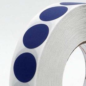 Circulos adhesivos de cinta americana azul