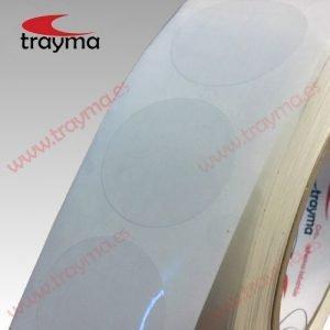 TYM 81383 VP1 Círculos adhesivos troquelados una cara TRANSPARENTES 30 mm diámetro