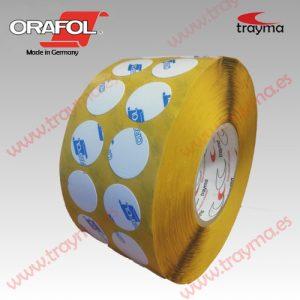 TYM 82406 Círculos adhesivos troquelados doble cara de PVC pegado EXTRA