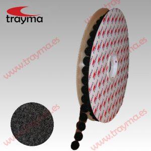 TYM 8LOOP NEGRO Círculos adhesivos cinta bucle LOOP Hembra
