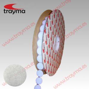 TYM 8LOOP BLANCO Círculos adhesivos cinta bucle LOOP Hembra