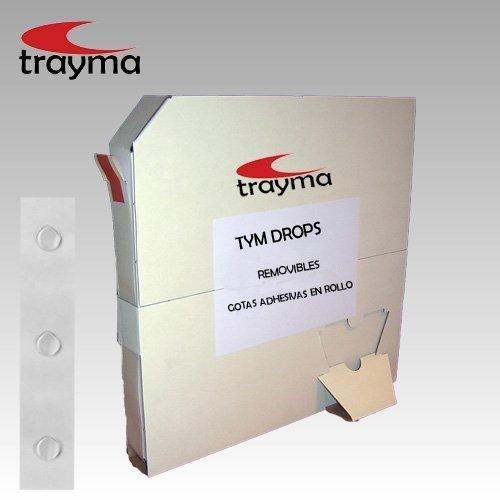 TYM DROPS Gotas adhesivas en rollo REMOVIBLES