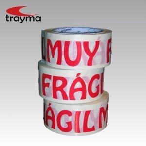 TYM 66120 Cinta adhesiva PVC texto 'Muy Frágil' en Rojo