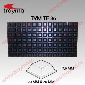 TYM TF36 TOP FIX - Tope Adhesivo de Protección Cuadrado - Lamina (17,59€/lamina) Lamina (17,59€/lamina) Lamina (17,59€/lamina)