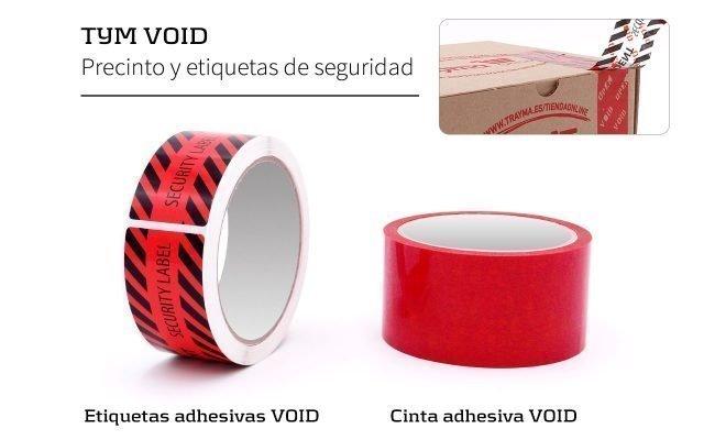 cinta adhesiva de seguridad void
